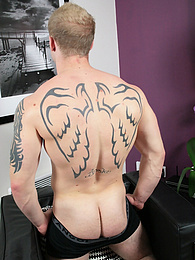 Tattooed stud Nathan flexes his love muscle pictures at freekiloclips.com