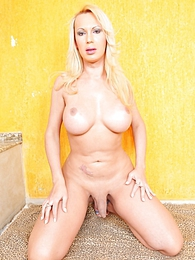 Cute Blonde Shemale Posing pictures at find-best-mature.com