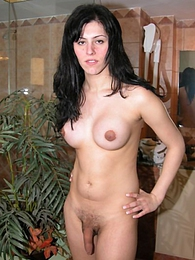 Felicitas fully naked playing with her huuuge fat dick pictures at find-best-panties.com
