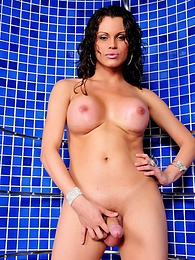 Nicole Marques gets horny in the shower room pictures at freekilosex.com