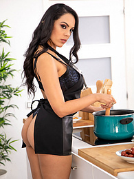 Katrina Moreno, the Special Big Boobed Latina Gets Fruity pictures at kilovideos.com