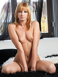 Cute Redhead Gabriella Mai squirts in Private's casting pictures at kilomatures.com