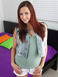 Cute redhead babe Hope Howell fingers her tight twat pictures at freekilomovies.com