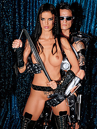 Space Age Helena Karel Has a Great Fuck with a Time Warrior pictures at freekilomovies.com