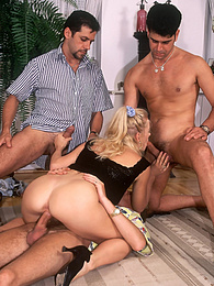 Sexy Blonde Ready for a Gangbang at the Private Casting pictures