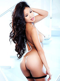 Staggering brunette asian amazes with her sensual lingerie solo scene pictures at find-best-panties.com