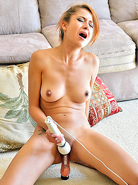 Young hottie screams like crazy with two toys deep drilling her shaved holes pictures