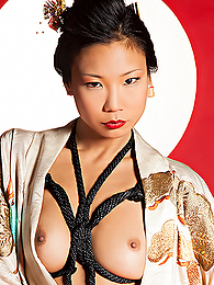 Elegant Asian stunner looks overwhelming in her weird lingerie, and she hypnotizes with her eyes pictures at find-best-hardcore.com
