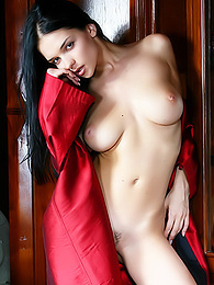 Chick in a satin robe hoping to show off for you pictures