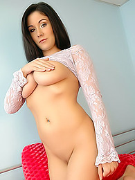 The incredibly hot Krissy looks great in lace pictures at freekiloclips.com