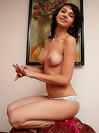 Barely legal honey teasing in front of the camera pictures at find-best-babes.com