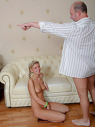Teen Elisa gets exploited by an old headmaster pictures at kilomatures.com