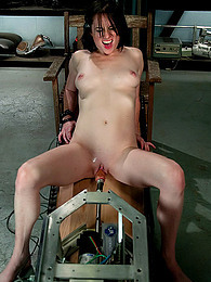 Huge mechanical cock tears tight pussy apart pictures at freekilosex.com