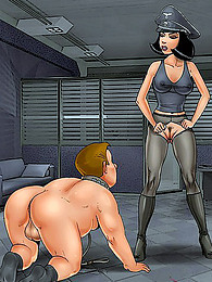 Femdom cartoon comic fetish pictures
