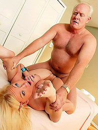 Grandpa pounds Madison Scott pictures at freekiloclips.com