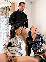 Pissing and fucking in threesome pictures