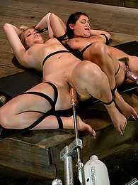 Fucking machine fun in dungeon pictures at find-best-panties.com