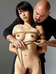Asian girl in sexy rope bondage pictures at kilovideos.com