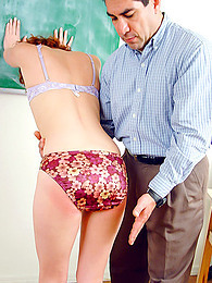 Redheaded student spanked lustily pictures at find-best-babes.com