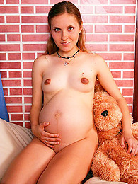 Pregnant girl lingerie striptease pictures at find-best-babes.com