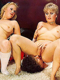 Vintage foursome includes hot cumshots pictures