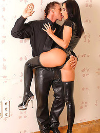 Spanking for a hot latex girl pictures at find-best-tits.com