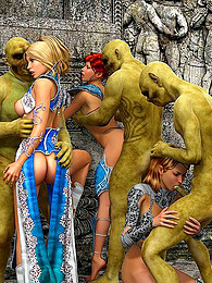 Goblins fuck babes in cartoon pictures at kilomatures.com