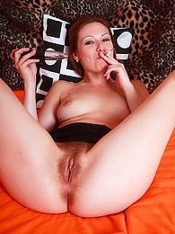 Smoking girl with hairy vagina pictures at kilogirls.com
