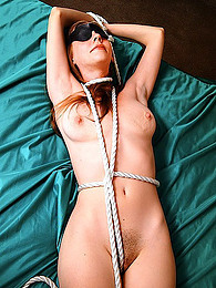 Erotic bondage on brunette girl pictures