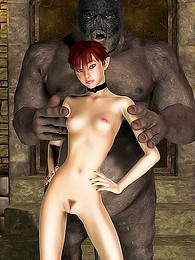 3d girl kisses monster pictures at find-best-hardcore.com