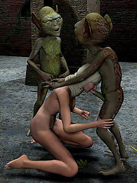 3d threesome with monsters pictures at freekiloclips.com