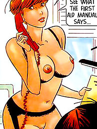 Comic with beauty in the office pictures at find-best-ass.com