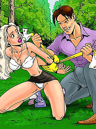 Bondage and cartoon sex in woods pictures