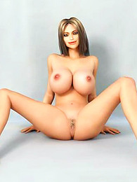 Busty naked 3d model pictures