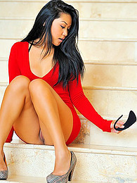Asian in tight red dress pictures