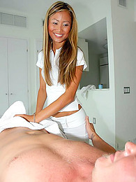 Asian masseuse takes a cock pictures at kilomatures.com