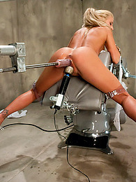 Tanned blonde and fucking machine pictures at find-best-pussy.com