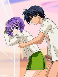 Purple hair girl hentai sex pictures at freekiloporn.com