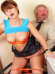 Office dude bangs young slut pictures at find-best-panties.com