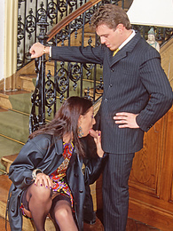 Elegant Carla Takes it Gladly In Both Holes At The Reception pictures at freekilosex.com