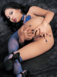 Asian Jade Plays Around With Two Fun Cocks In Her Lingerie pictures