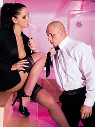 Stunning Angel Dark Loves Femdom and Anal With Valiant Guy pictures at freekilosex.com