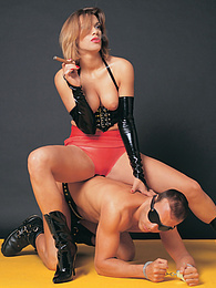 Sara, The Latex Dominatrix Wants Her Dose Of Hard Fucking pictures at freekilomovies.com