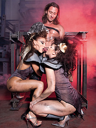 Irina and Lana, Forced Hard Labour for Two Metal Workers pictures at freekiloclips.com