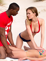 Belle and Anita in Interracial Anal Threesome on the Beach pictures at find-best-lingerie.com
