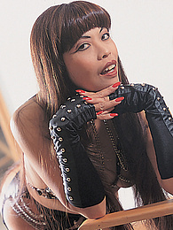 Cumisha Loves to Dress Up In Leather And Take a Cock... pictures at freekiloporn.com
