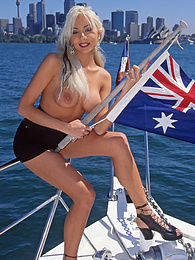 Horny Aliza Has Some Solo Fun On a Boat in Sydney Harbour pictures