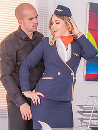 Sweet Blonde Selvaggia Flies High with Private Airlines pictures