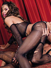 Sexy Big Tits Karina and Her Man Get Kinky in Stockings pictures
