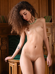 Skinny cutie embraces every bit of her wonderfully shaped body as she shows off in this sexy little solo show pictures